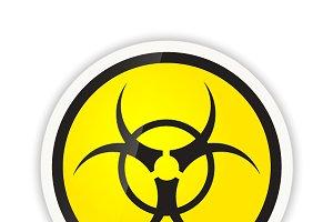 Bright biohazard modern icon