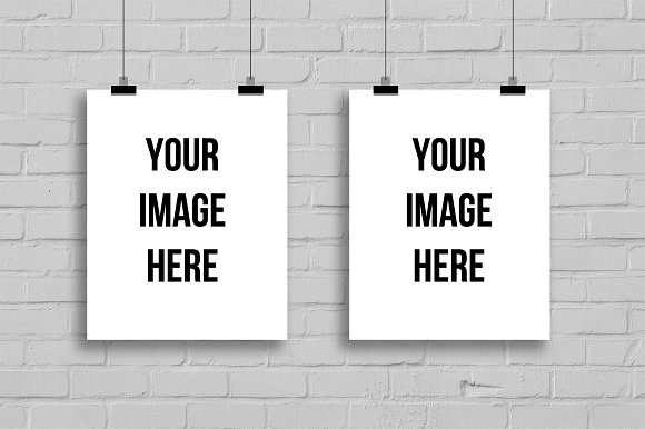 Two Empty Frames For Art Display Product Mockups Creative Market