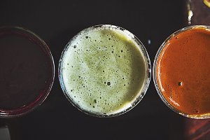 A Trio of Freshly Squeezed Juices