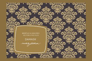 VECTOR & PSD Damask tile & patterns