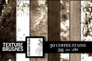 30 Coffee Stain Textures