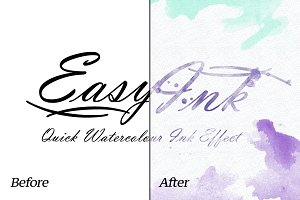 Watercolor - EasyInk - Quick Ink Efx