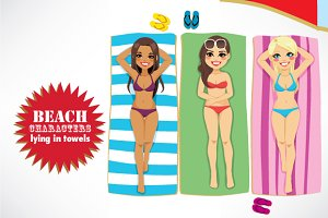 Beach Characters Towel