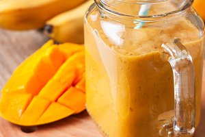 Smoothie with tropical fruits