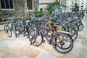 Parking for bicycles in Cambridge