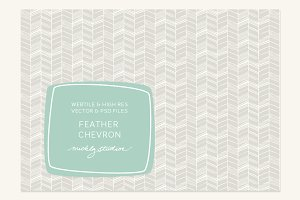 VECTOR & PSD Feather Chevron tile &