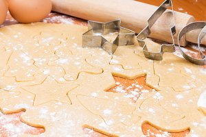 Process of baking homemade cookies
