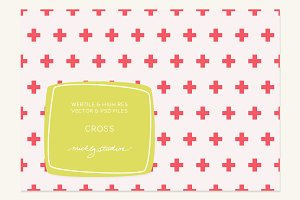 VECTOR & PSD Cross webtile & pattern