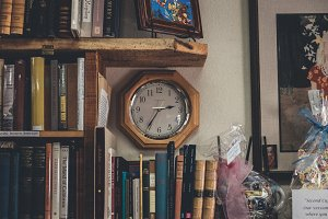 Clock in a Book Store