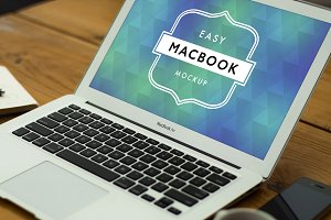 Mockup Macbook Air Mac 8