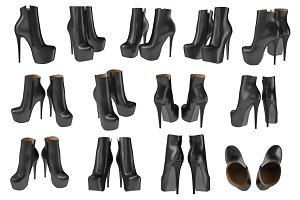 Set women's shoes, objects