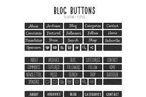Chalkboard Blog Buttons