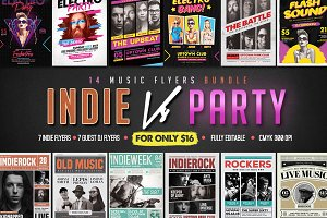 14 Music Flyers Bundle