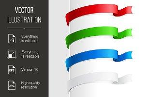 Colorful abstract ribbon