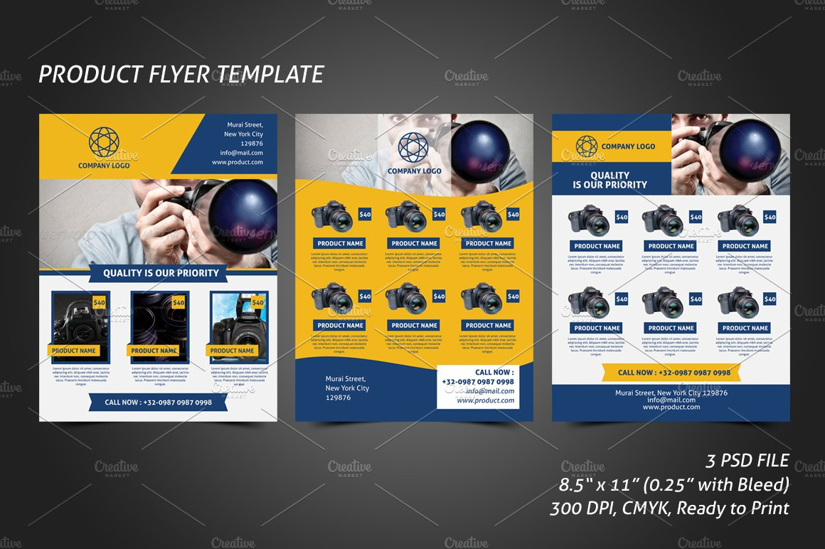 hotel promotion flyer template flyer templates on creative market product flyer template