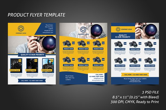 Product flyer template flyer templates creative market product flyer template pronofoot35fo Gallery