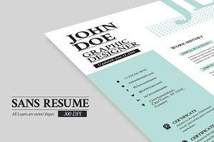 Sans Resume -Cover Letter -Portfolio