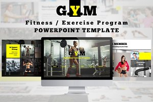 Fitness Center Powerpoint Template