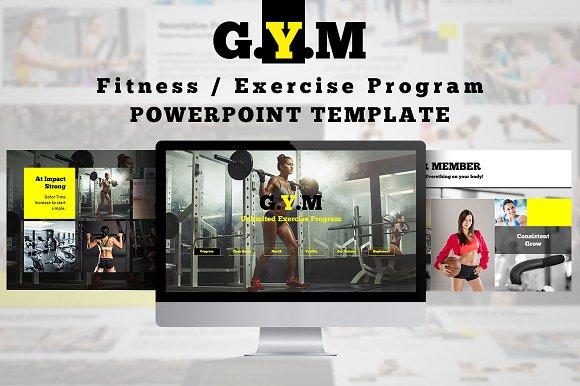 Fitness center powerpoint template presentation templates fitness center powerpoint template presentations toneelgroepblik Choice Image