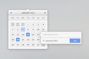 Minimal Calendar Widget