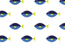 Blue Tang Seamless Pattern