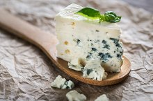 Piece of the blue cheese