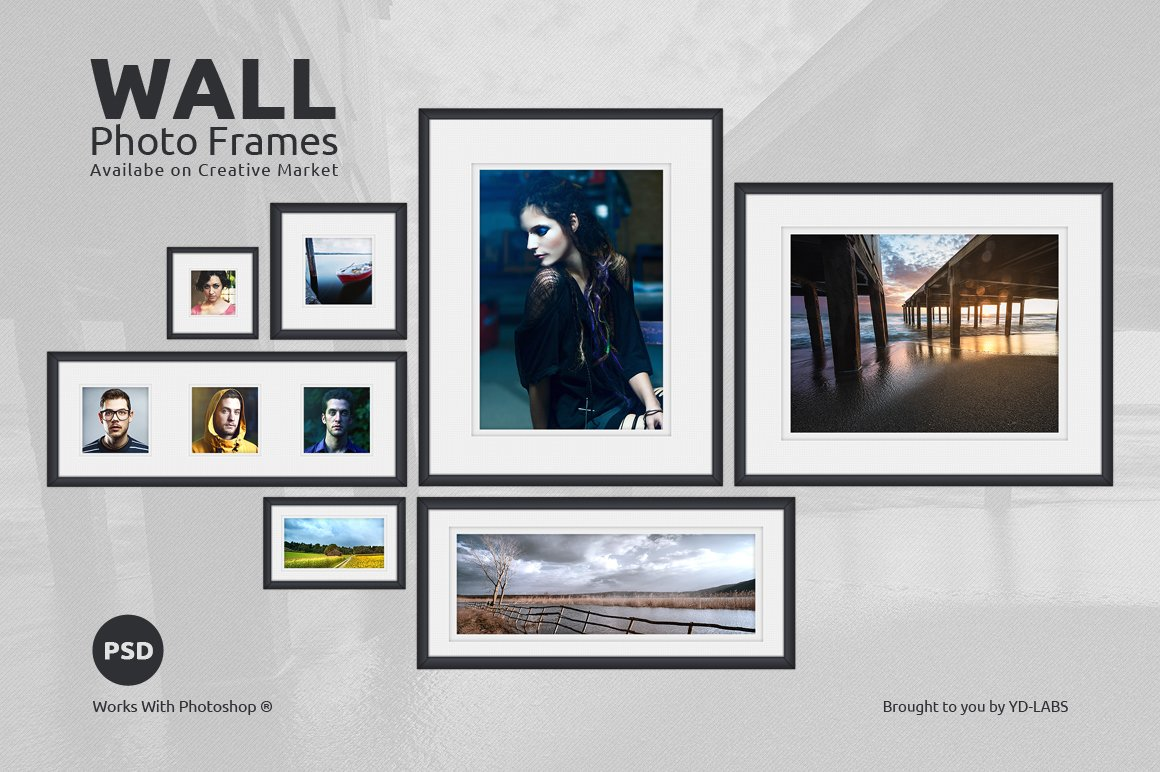 wall frame set updated product mockups on creative market