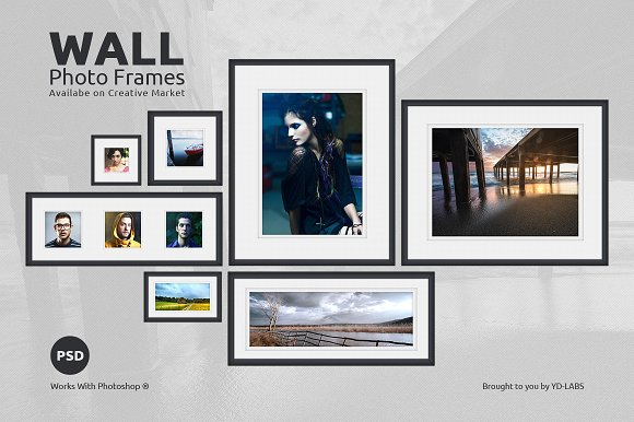 Wall Frame Set Updated ~ Product Mockups ~ Creative Market