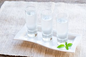 Shots of vodka