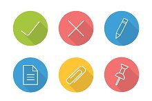 File manager linear icon set. Vector