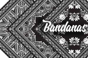 Bandanas silk scarf set 1