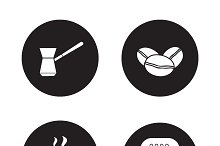 Coffee appliances icons. Vector