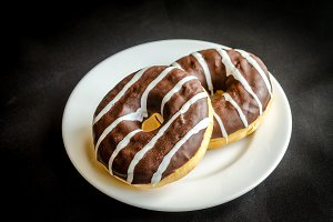 Chocolate donuts