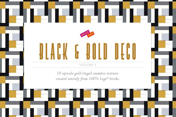 Black and Bold Deco Patterns