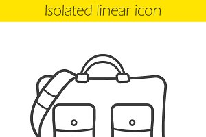 Handbag icon. Vector