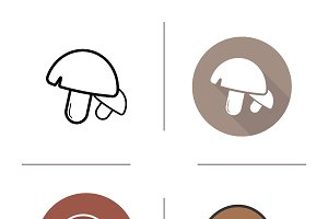 Mushrooms icons. Vector