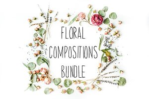 7 floral compositions bundle