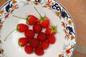 first raspberries of season