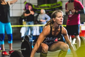 Crossfit Woman Lifting Clean