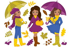 African American Fall Girls Set