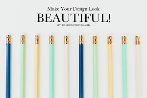 Pencils Styled Stock Photography
