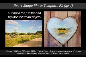 Heart Shape Photo Template FX