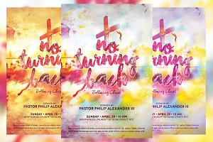 No Turning Back Church Flyer