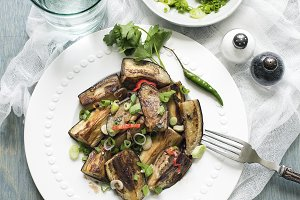 Eggplant in sweet and spicy sauce