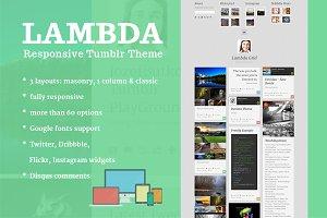 Lambda - Tumblr Theme