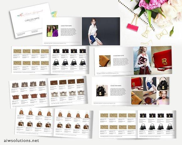 landscape a4 catalog id02 magazine templates creative market