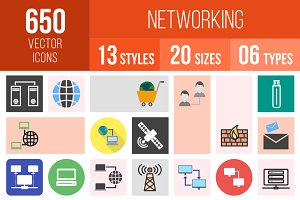 650 Networking Icons