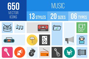 650 Music Icons