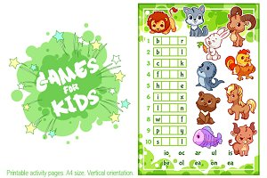 Educational rebus game for kids.