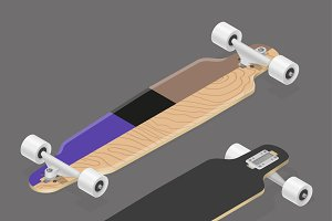 Longboard skateboard set